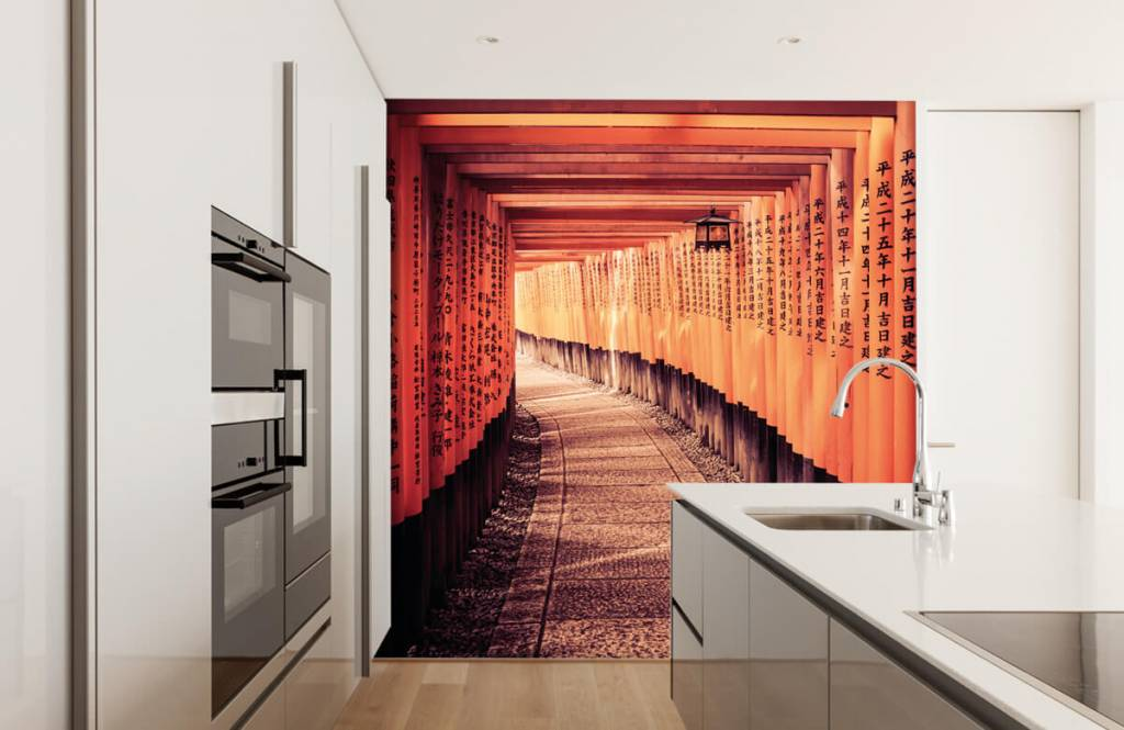 Cities wallpaper - Chinese tunnel - Bedroom 2