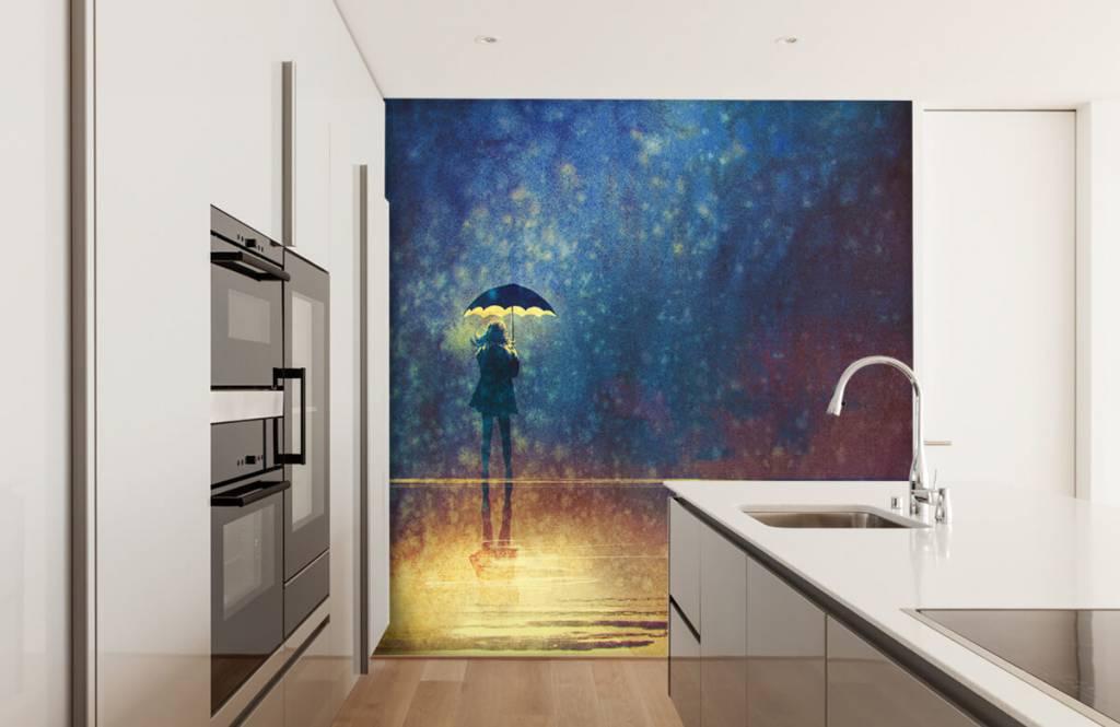 Modern - Lonely girl in the rain - Hobby room 4