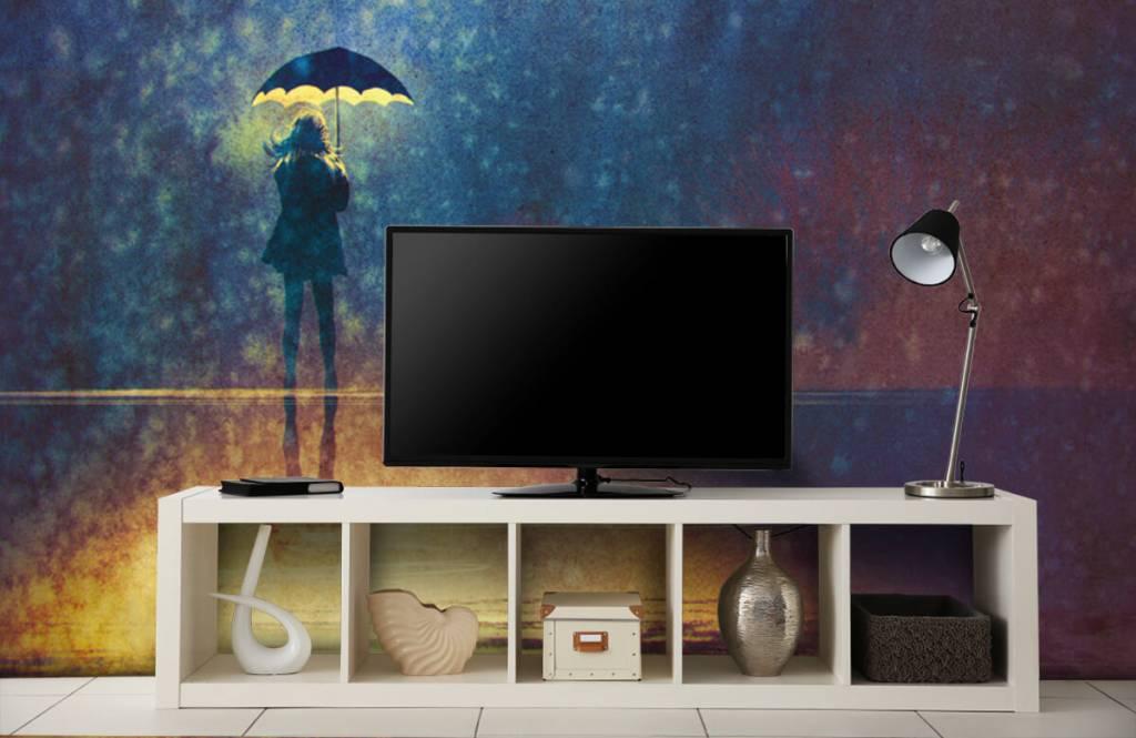 Modern - Lonely girl in the rain - Hobby room 5