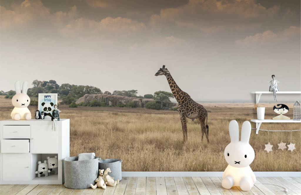 Animals - Giraffe on a savannah - Bedroom 6