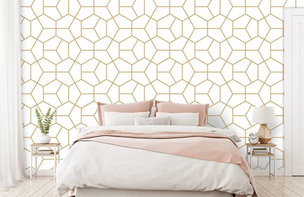 Other - Gold geometric pattern - Bedroom 1