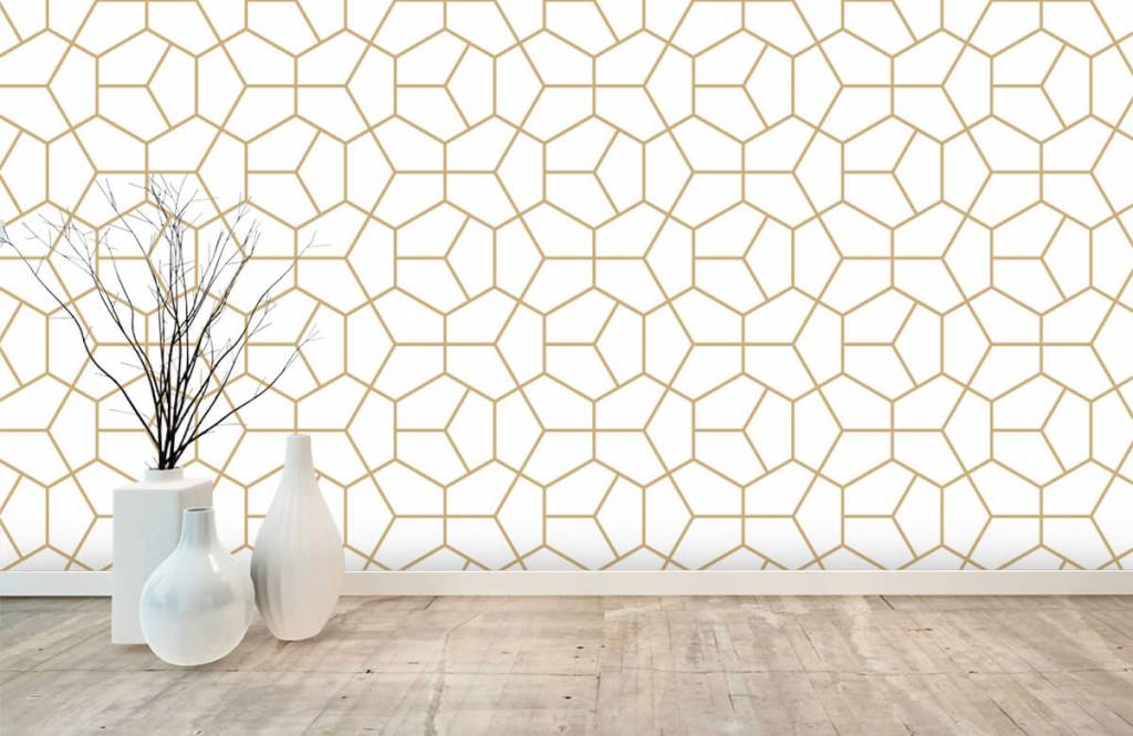 Other - Gold geometric pattern - Bedroom 6