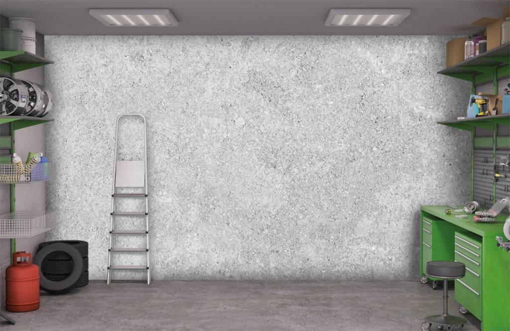 Concrete look wallpaper - Grey concrete structure - Kitchen 3