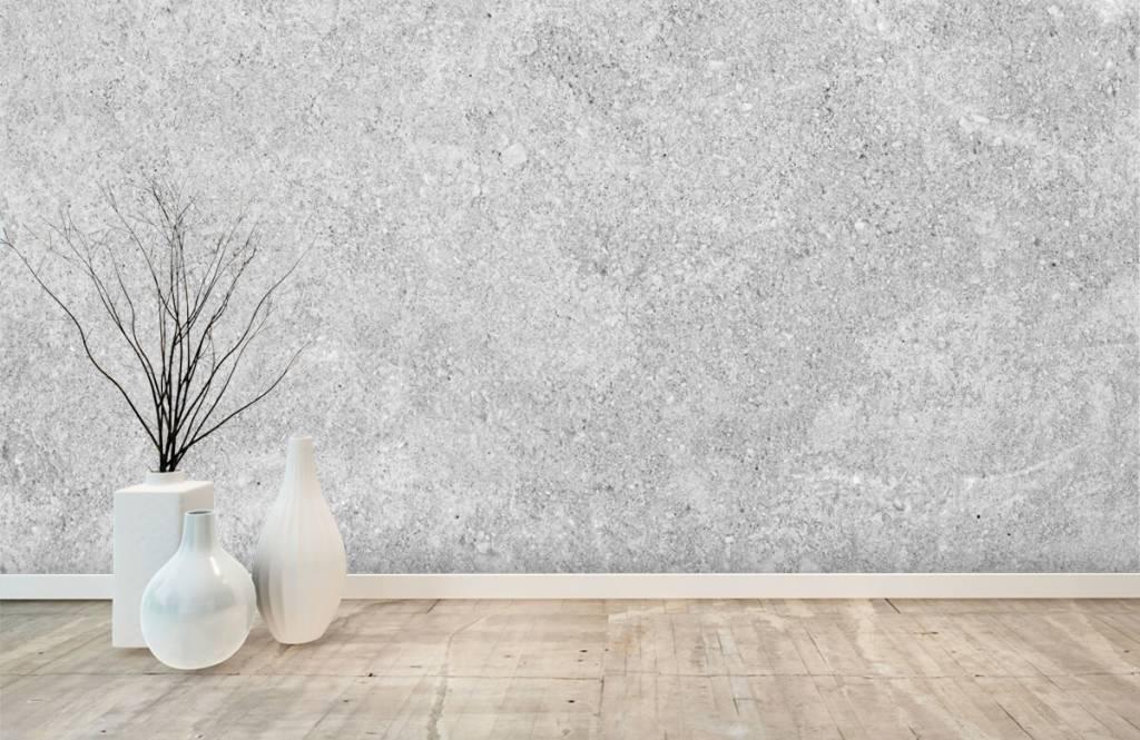 Concrete look wallpaper - Grey concrete structure - Kitchen 4