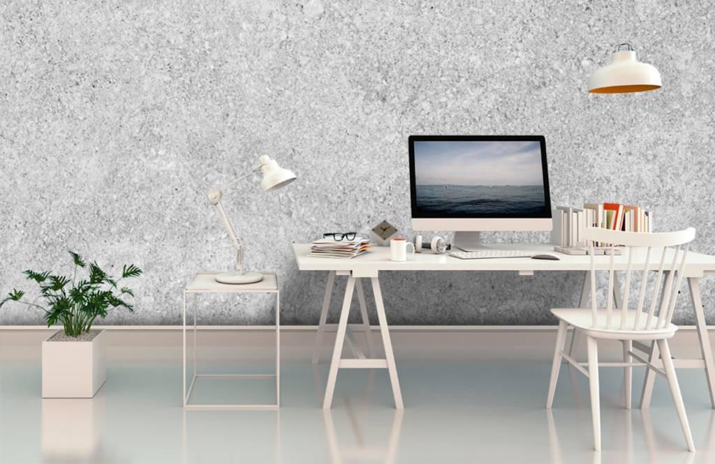 Concrete look wallpaper - Grey concrete structure - Kitchen 7