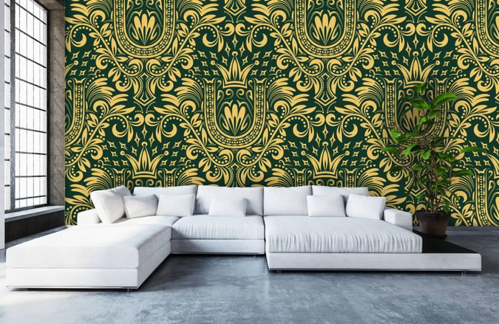Baroque wallpaper - Green baroque pattern - Bedroom 6