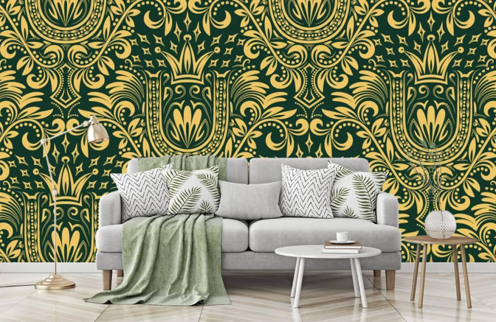 Baroque wallpaper - Green baroque pattern - Bedroom 8