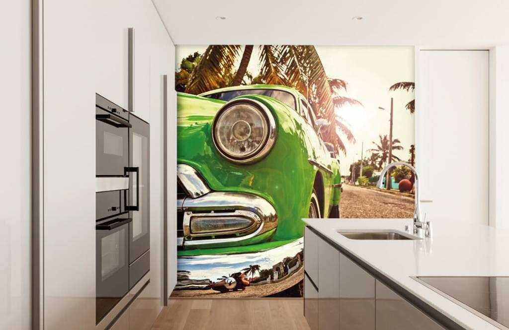 Transportation - Green classic car - Bedroom 4