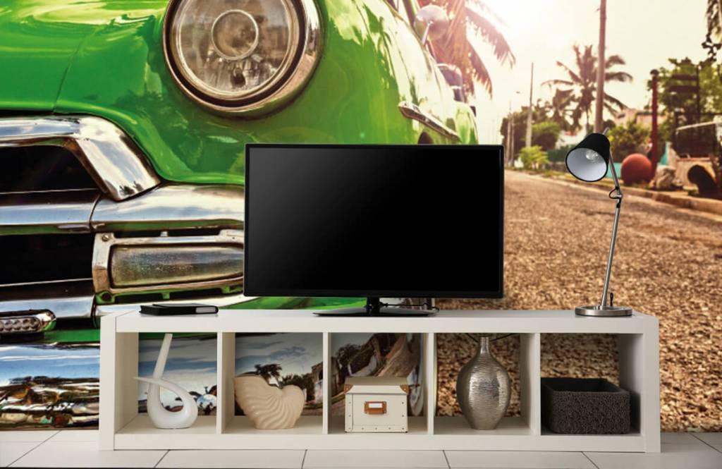 Transportation - Green classic car - Bedroom 5