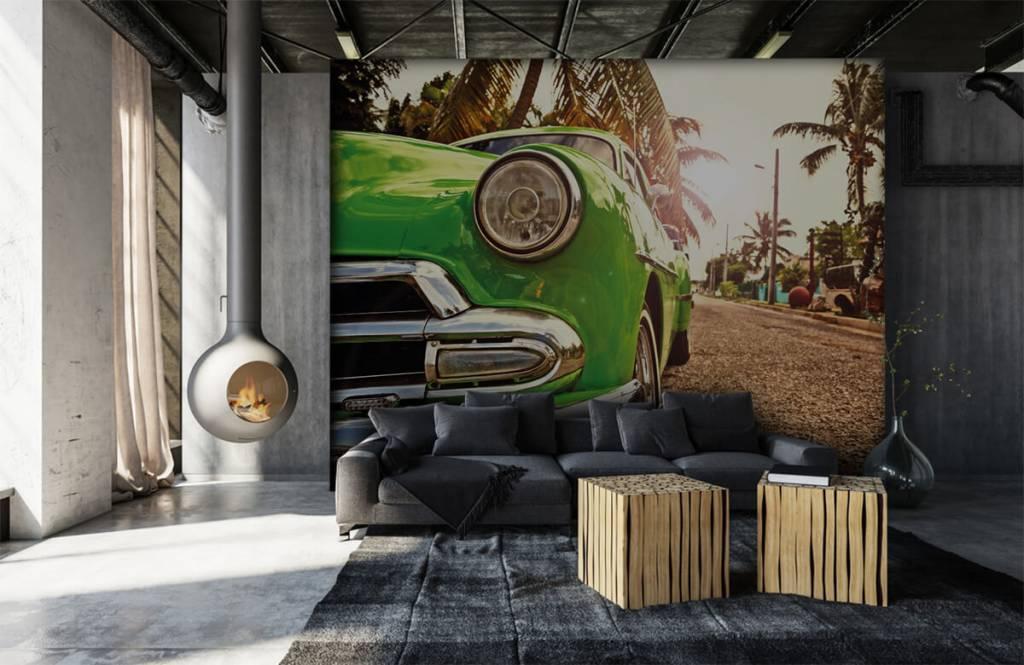 Transportation - Green classic car - Bedroom 6