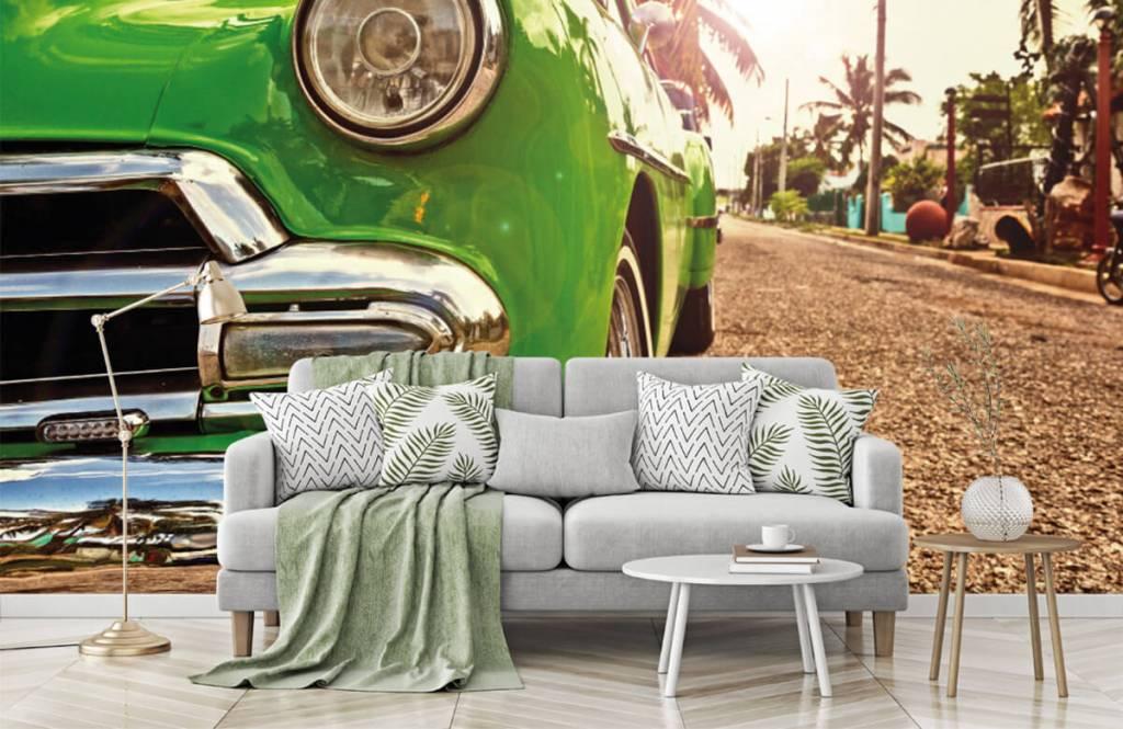 Transportation - Green classic car - Bedroom 7