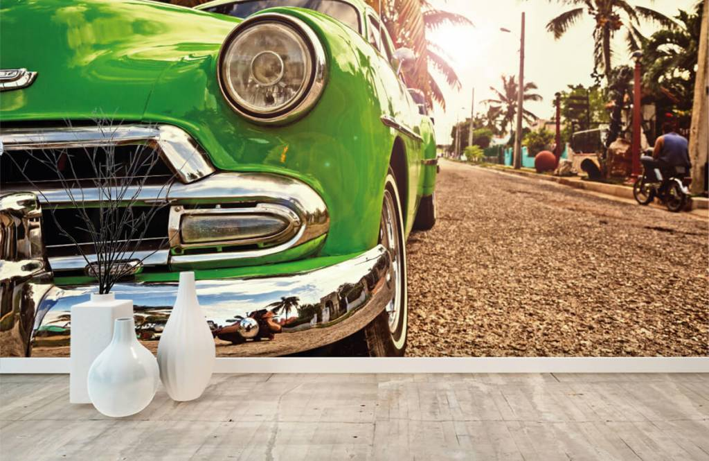 Transportation - Green classic car - Bedroom 8