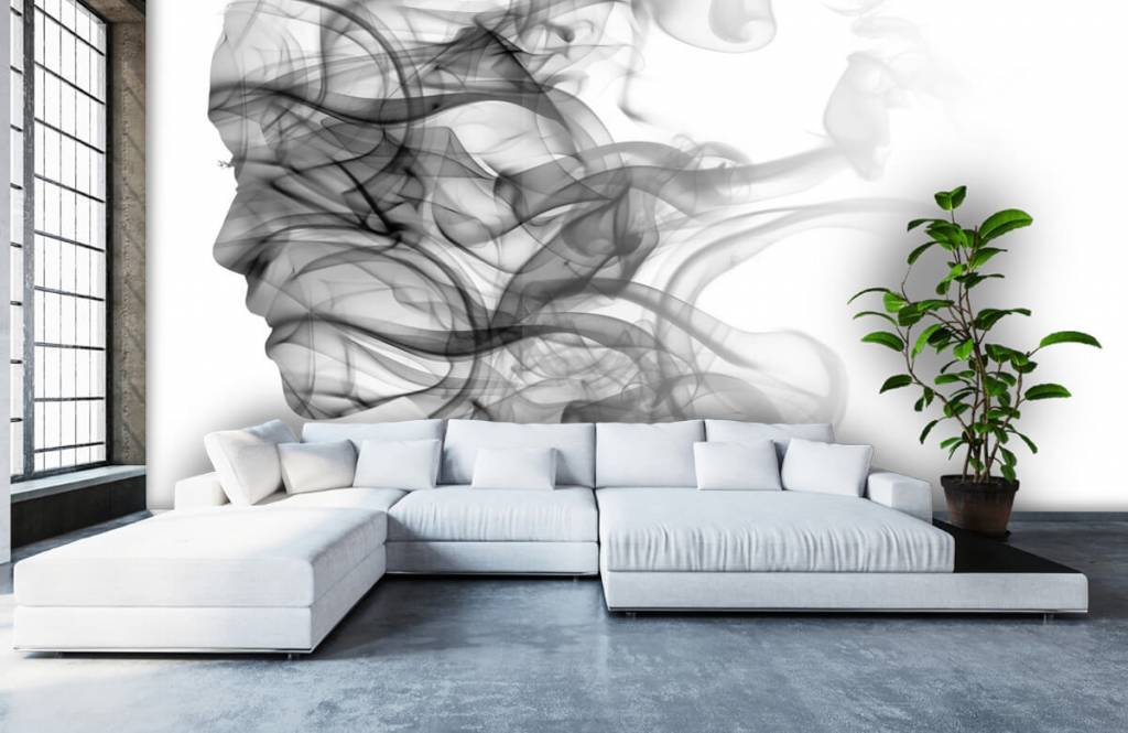 Modern - Head formed of smoke - Office 1