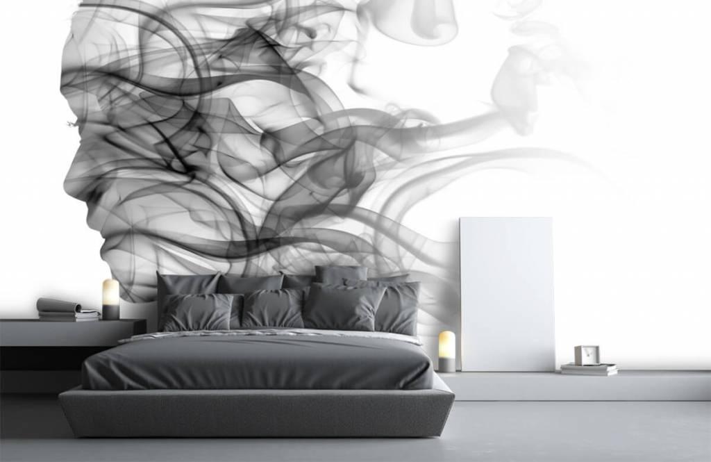 Modern - Head formed of smoke - Office 3