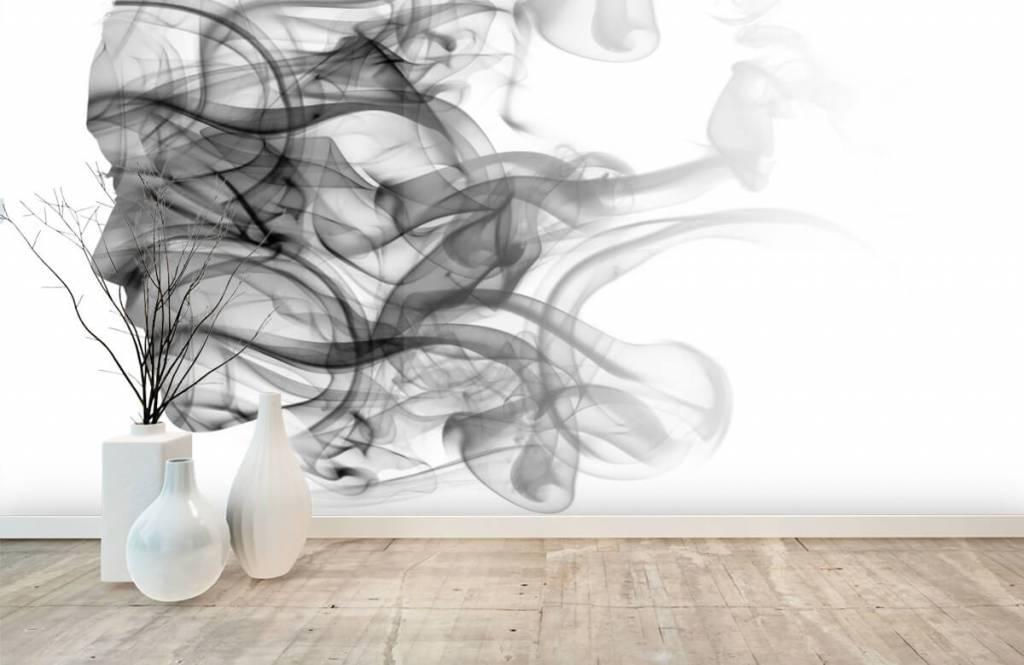 Modern - Head formed of smoke - Office 8