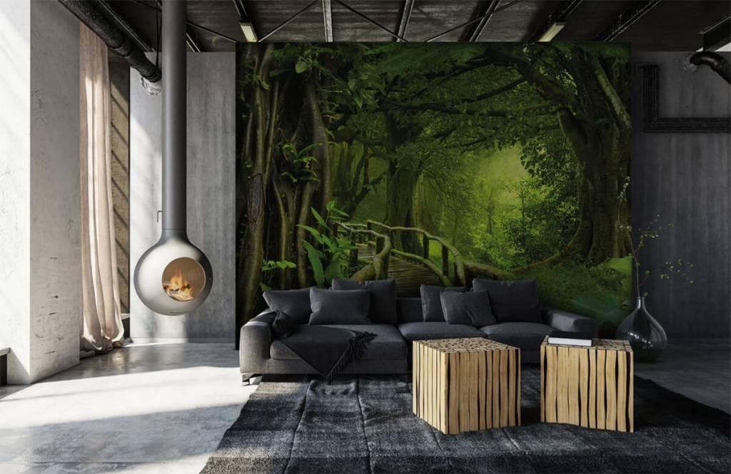 Trees - Wooden bridge through a green jungle - Bedroom 6