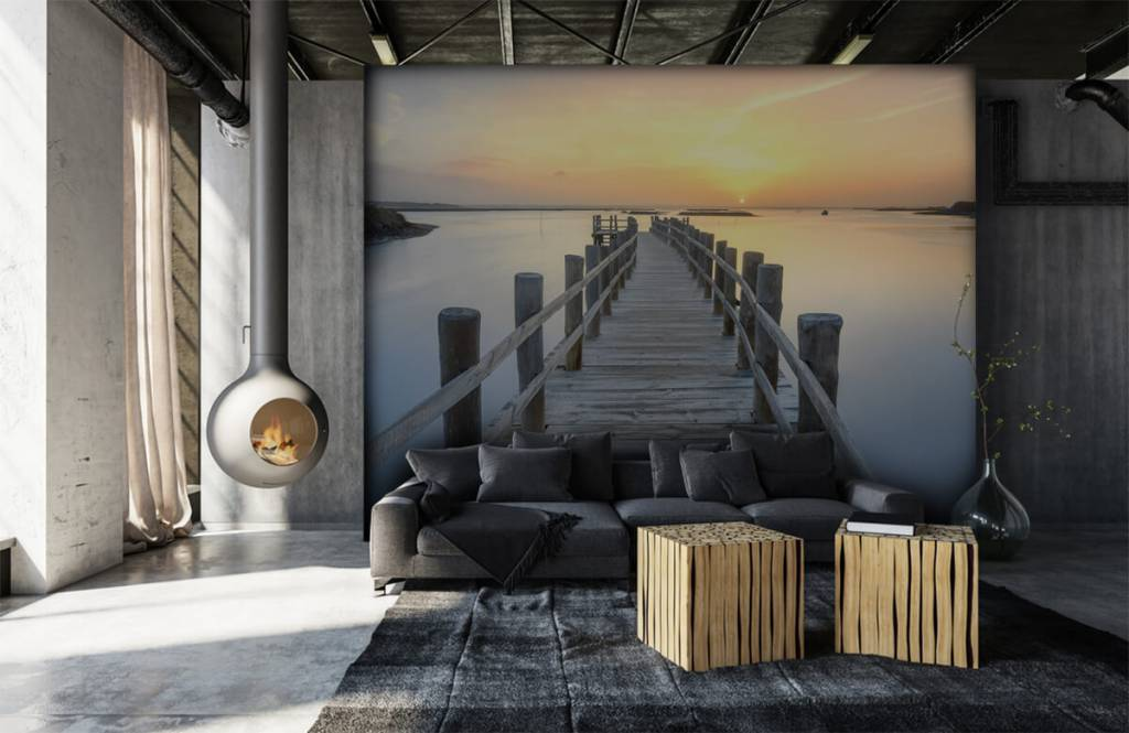 Lakes and Waters - Wooden scaffolding at sunset - Living room 7