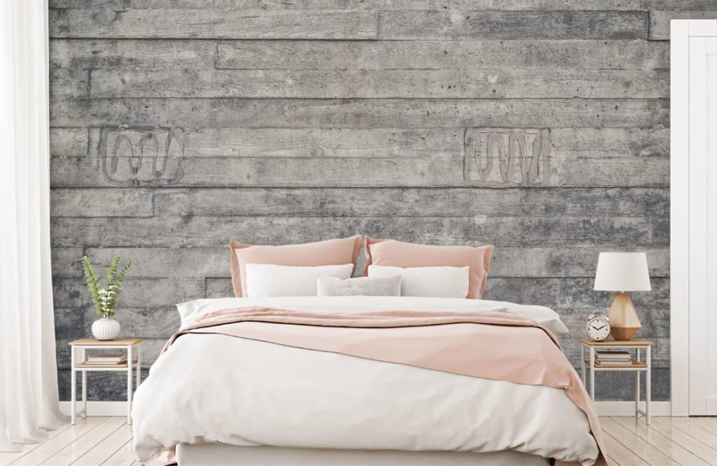 Wooden wallpaper - Wooden grey wall - Entrance 2
