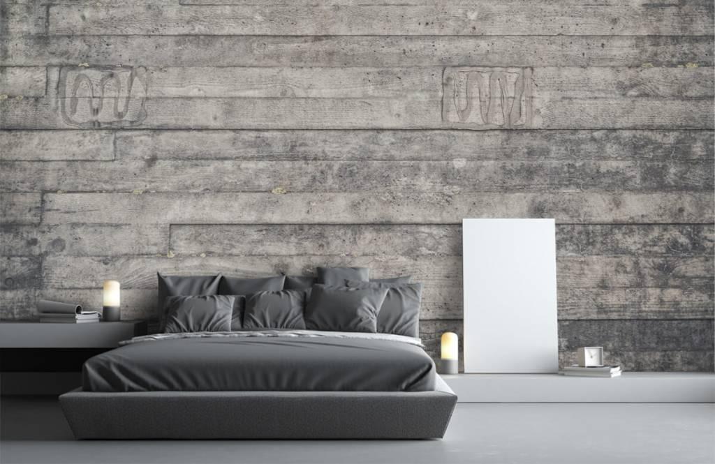 Wooden wallpaper - Wooden grey wall - Entrance 3