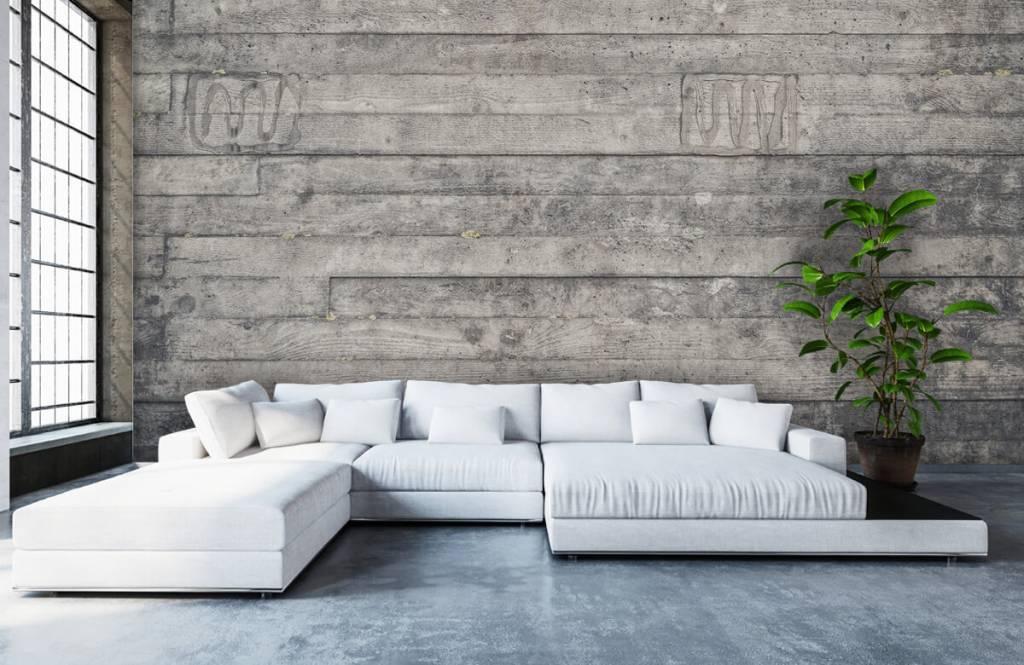 Wooden wallpaper - Wooden grey wall - Entrance 5