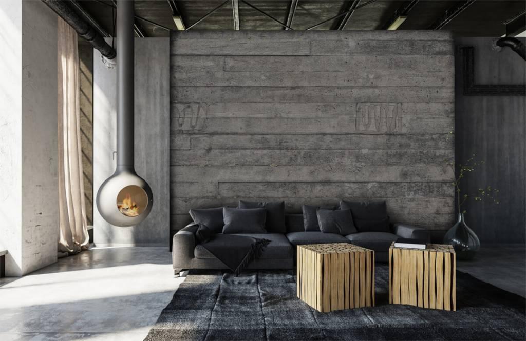 Wooden wallpaper - Wooden grey wall - Entrance 6