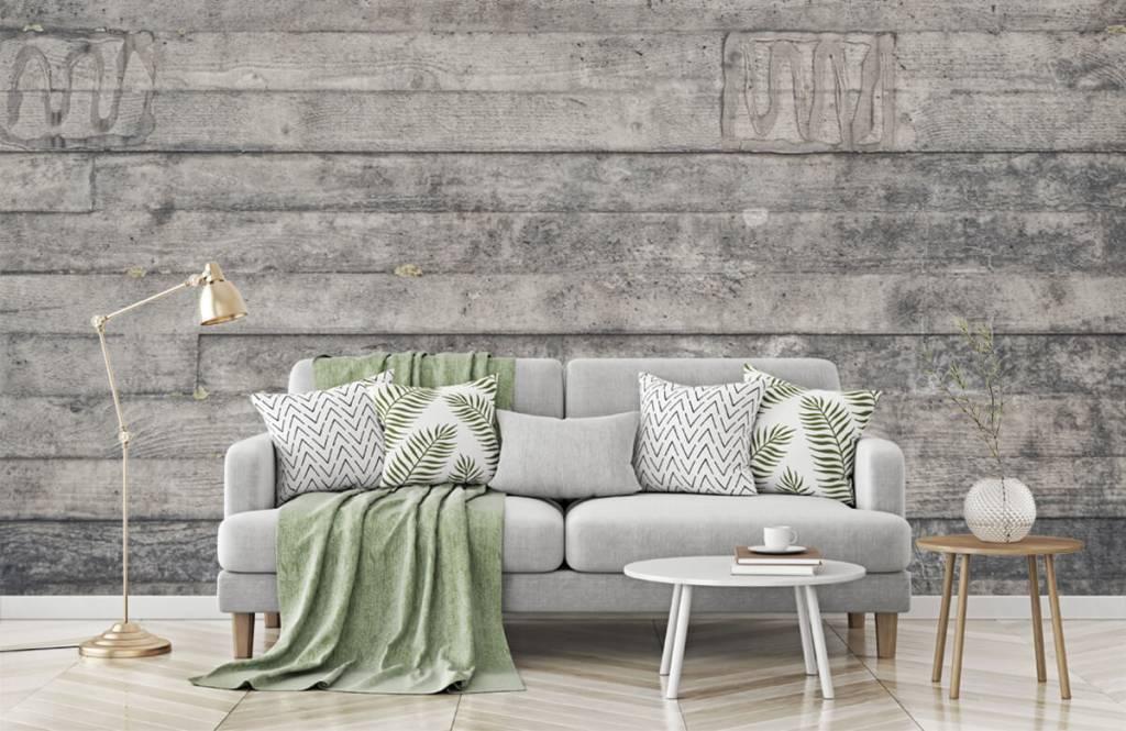 Wooden wallpaper - Wooden grey wall - Entrance 7