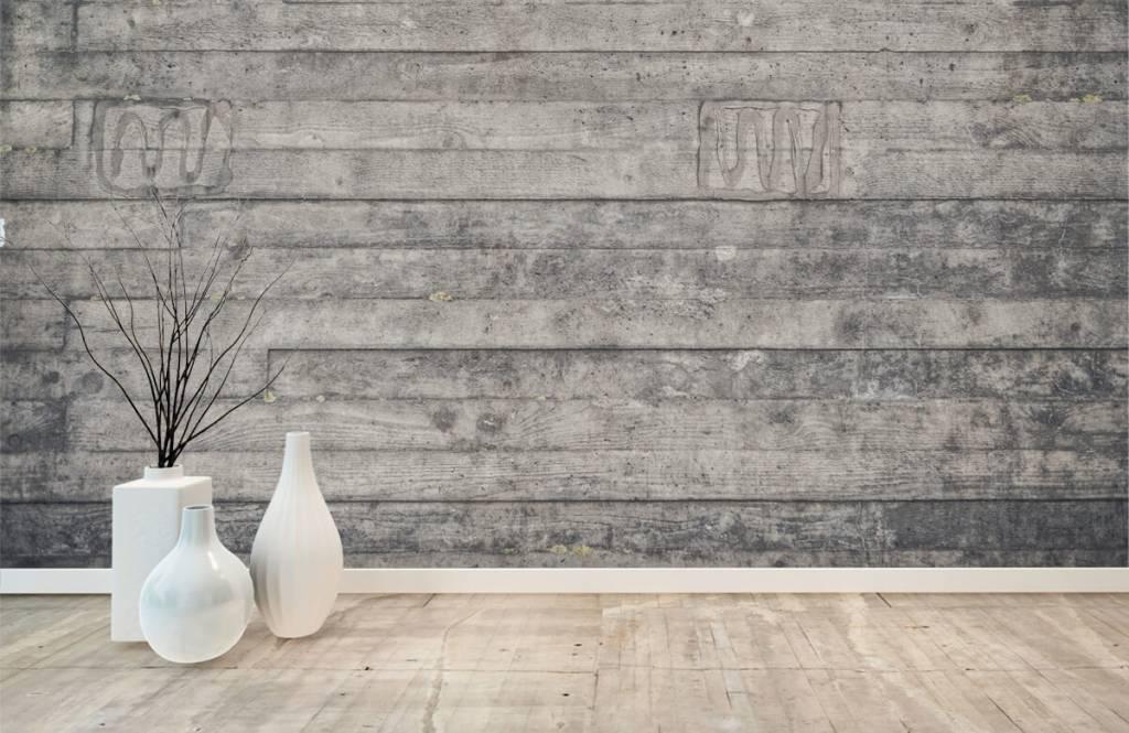 Wooden wallpaper - Wooden grey wall - Entrance 8