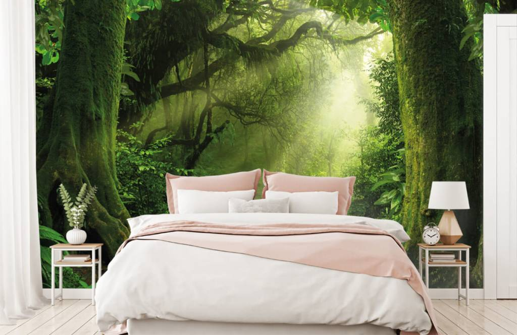 Trees - Jungle with sunbeams - Bedroom 2
