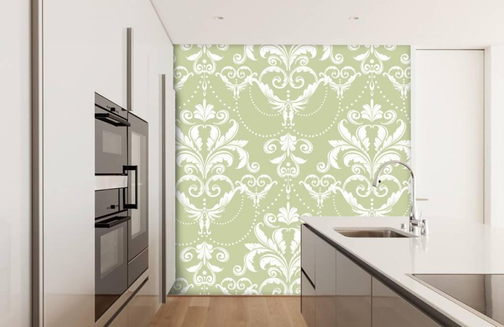 Baroque wallpaper - Classic pattern - Bedroom 4