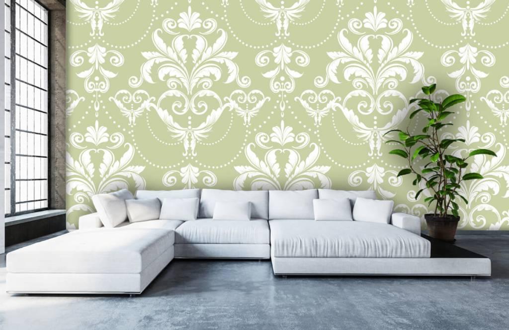 Baroque wallpaper - Classic pattern - Bedroom 5