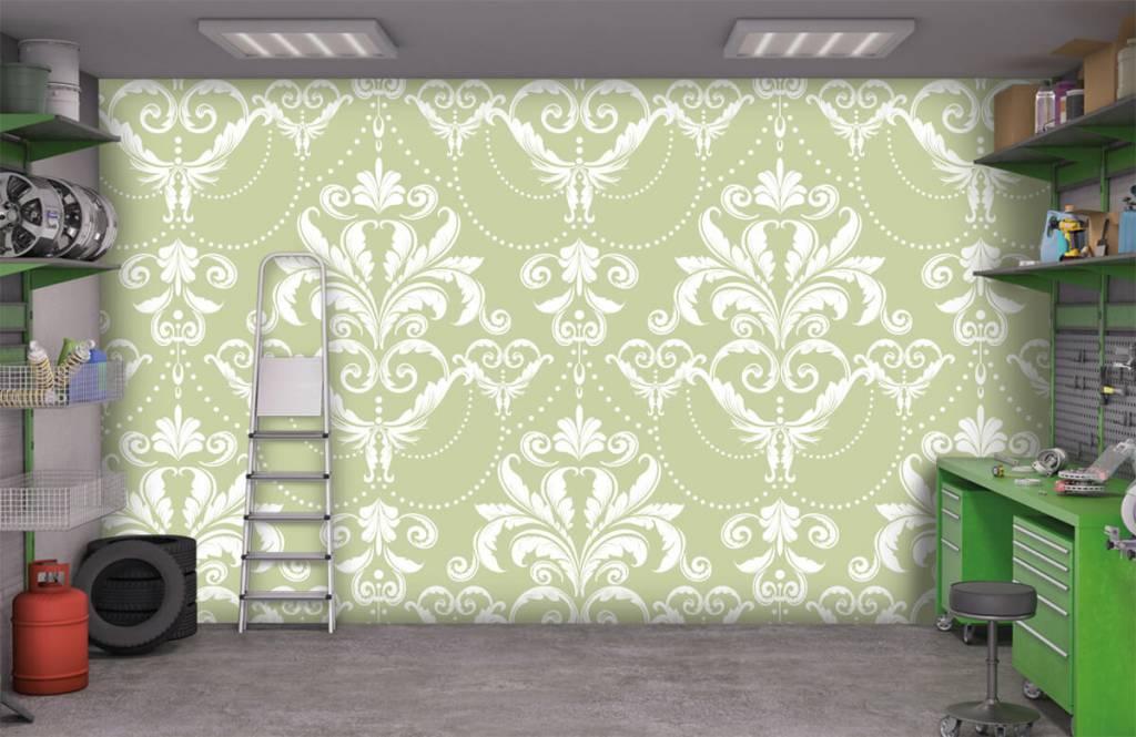 Baroque wallpaper - Classic pattern - Bedroom 9