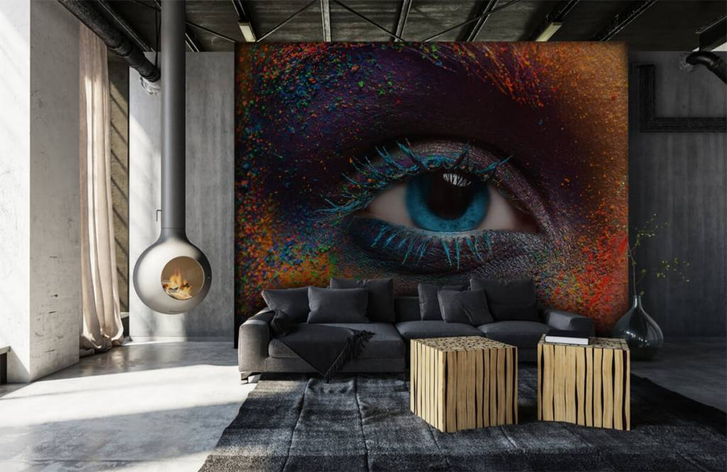 Portets and faces - Colorful eye - Hallway 6