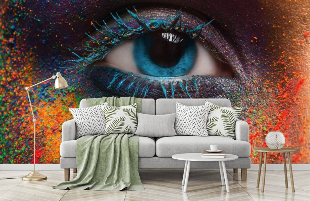 Portets and faces - Colorful eye - Hallway 7
