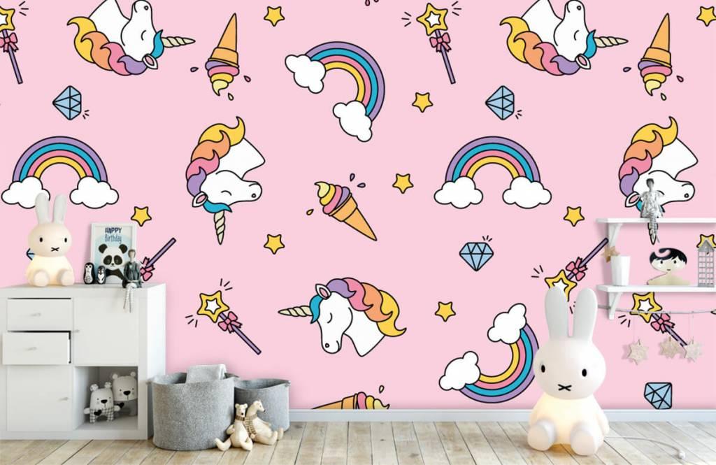 Horses - Colorful unicorn pattern - Children's room 1