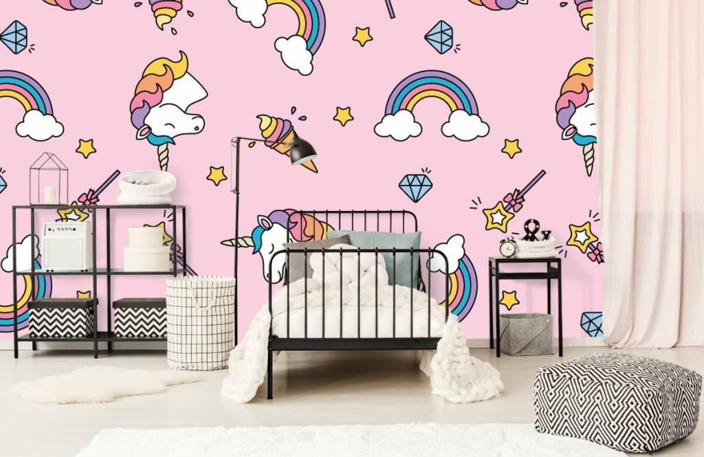 Horses - Colorful unicorn pattern - Children's room 2