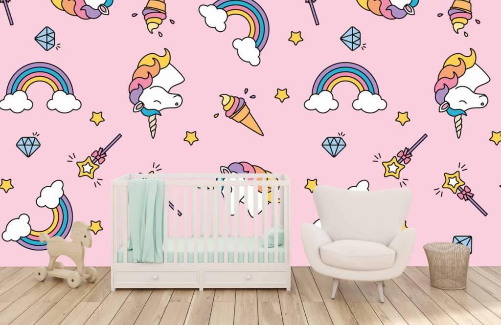 Horses - Colorful unicorn pattern - Children's room 5