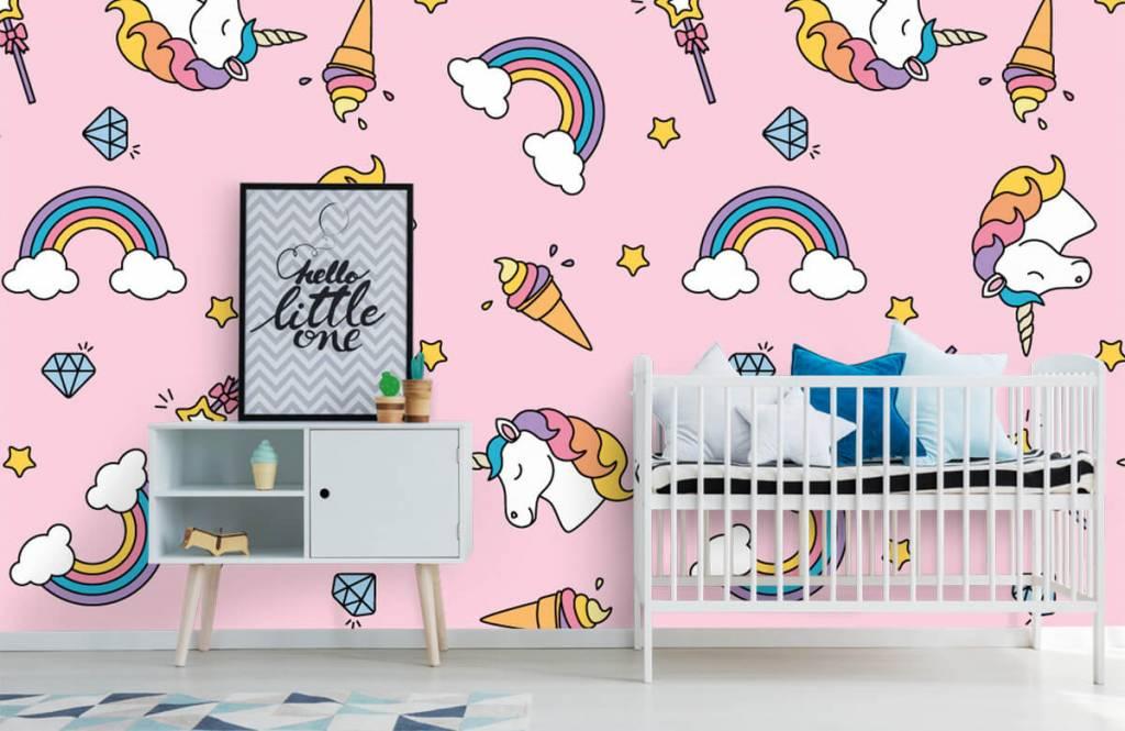 Horses - Colorful unicorn pattern - Children's room 6