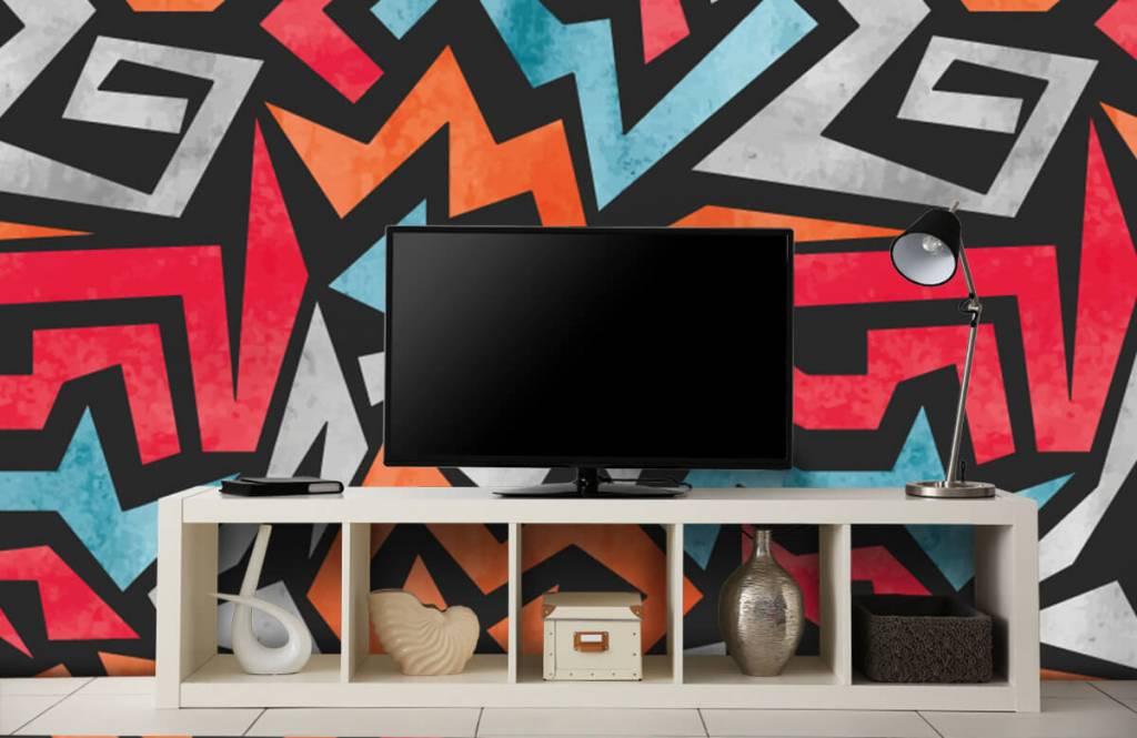Graffiti - Colorful graphic print - Teenage room 1