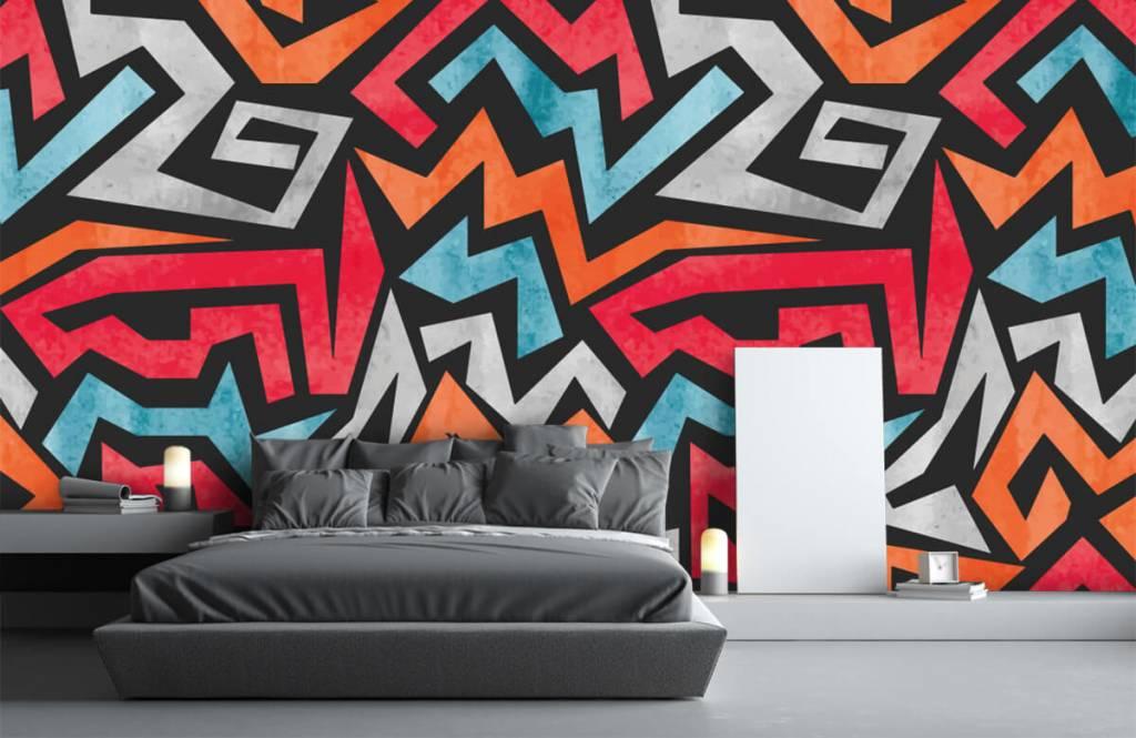 Graffiti - Colorful graphic print - Teenage room 3