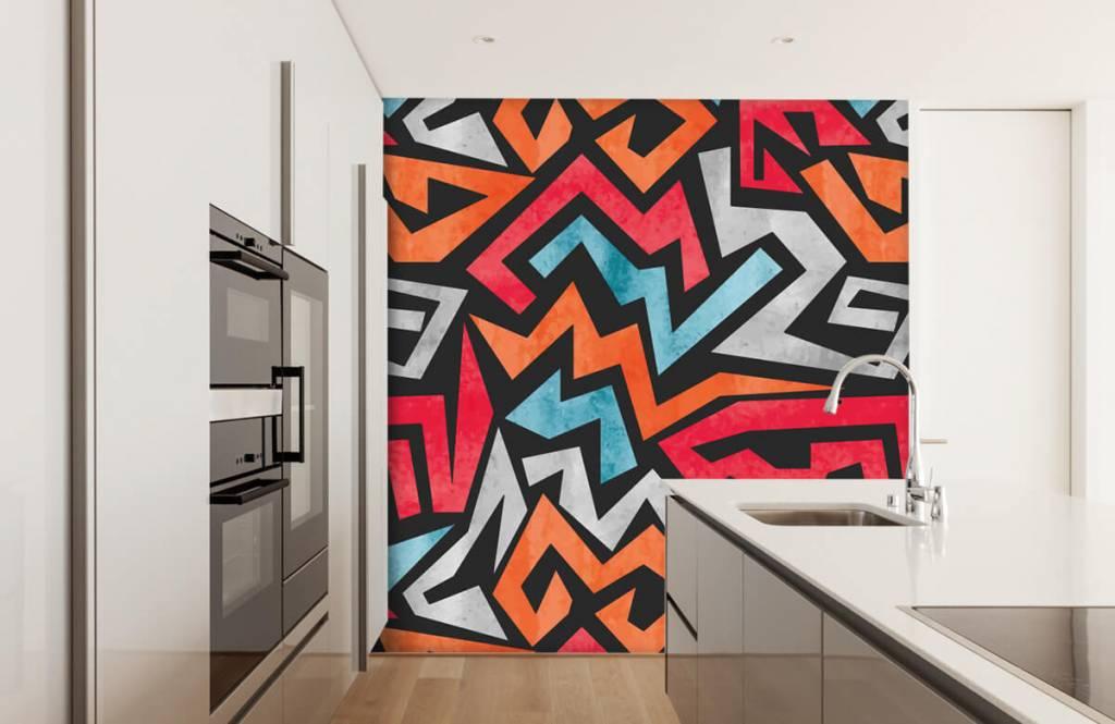 Graffiti - Colorful graphic print - Teenage room 4