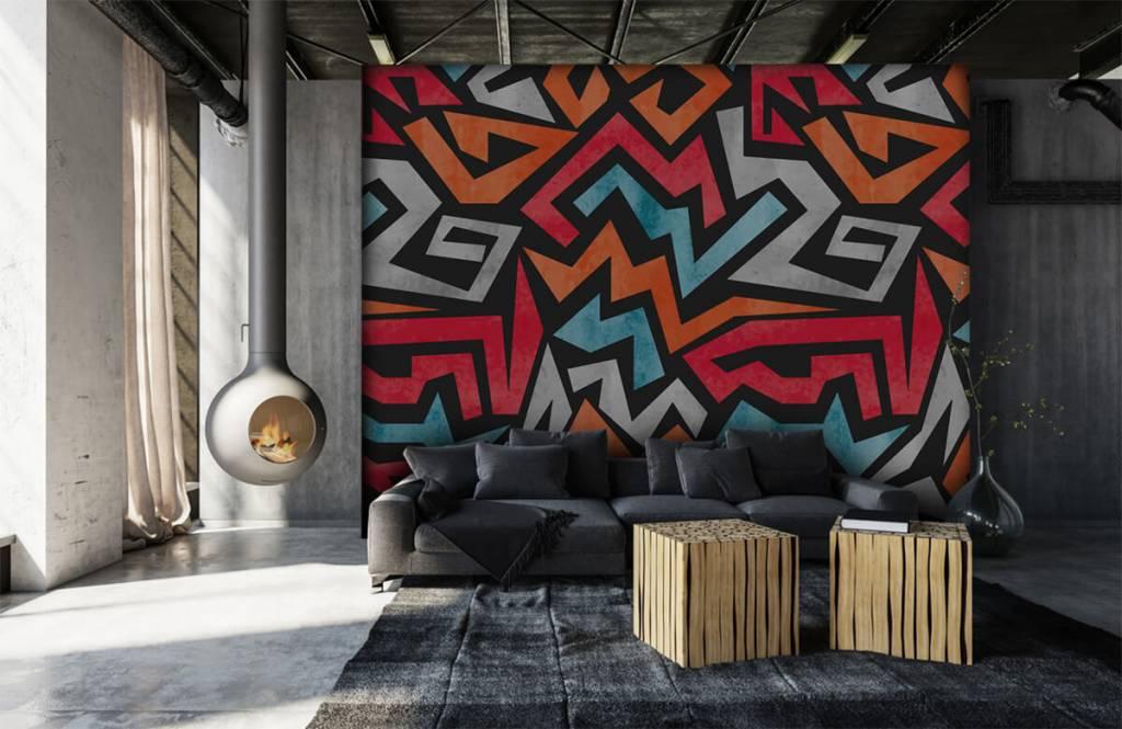 Graffiti - Colorful graphic print - Teenage room 6