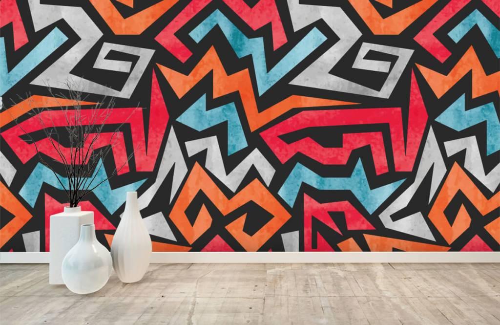 Graffiti - Colorful graphic print - Teenage room 8