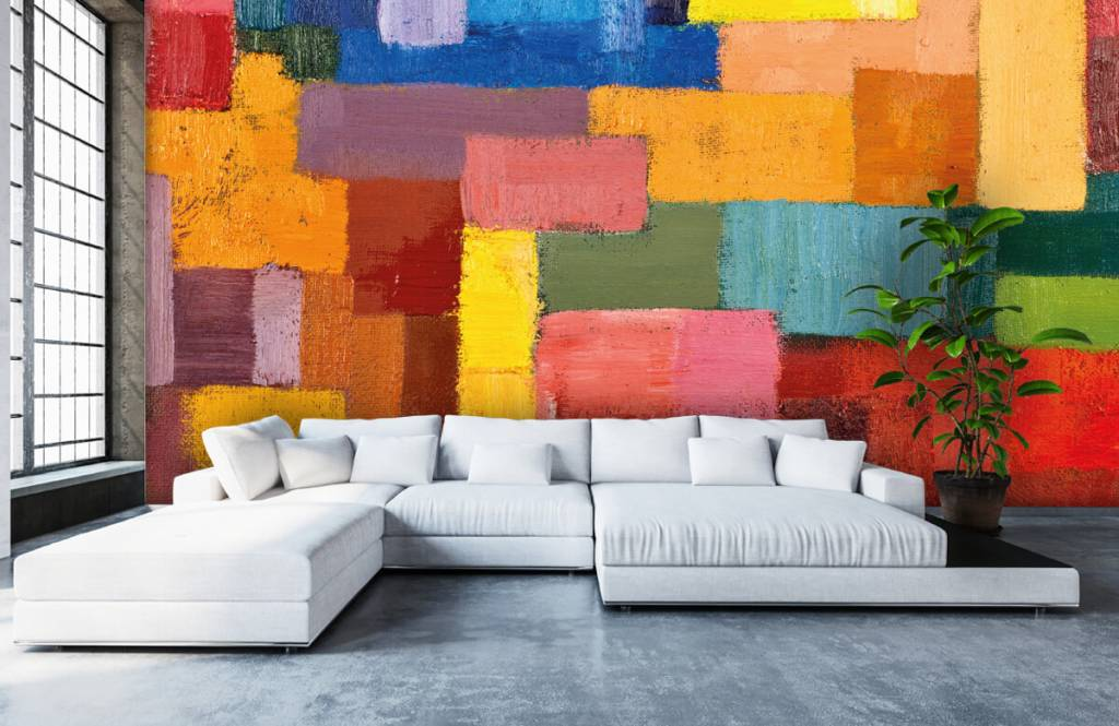 Abstract - Colorful surface distribution - Living room 1