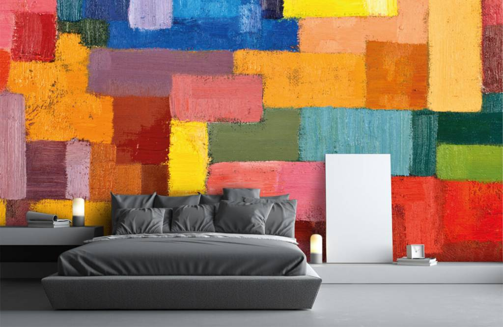 Abstract - Colorful surface distribution - Living room 3