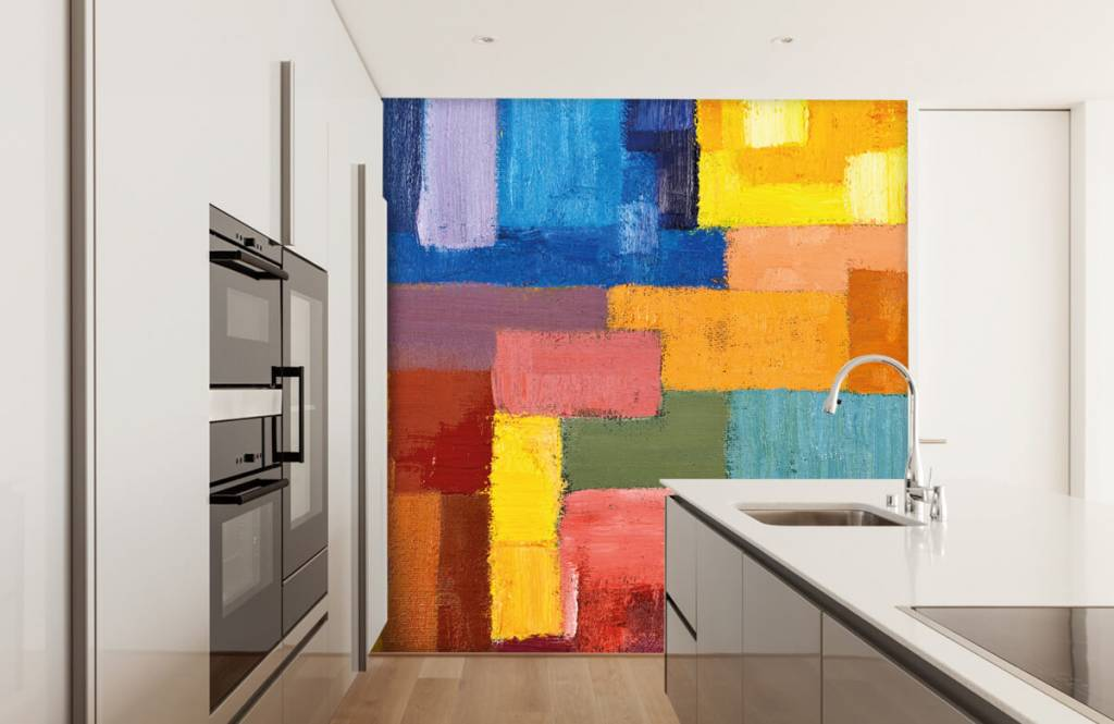 Abstract - Colorful surface distribution - Living room 4