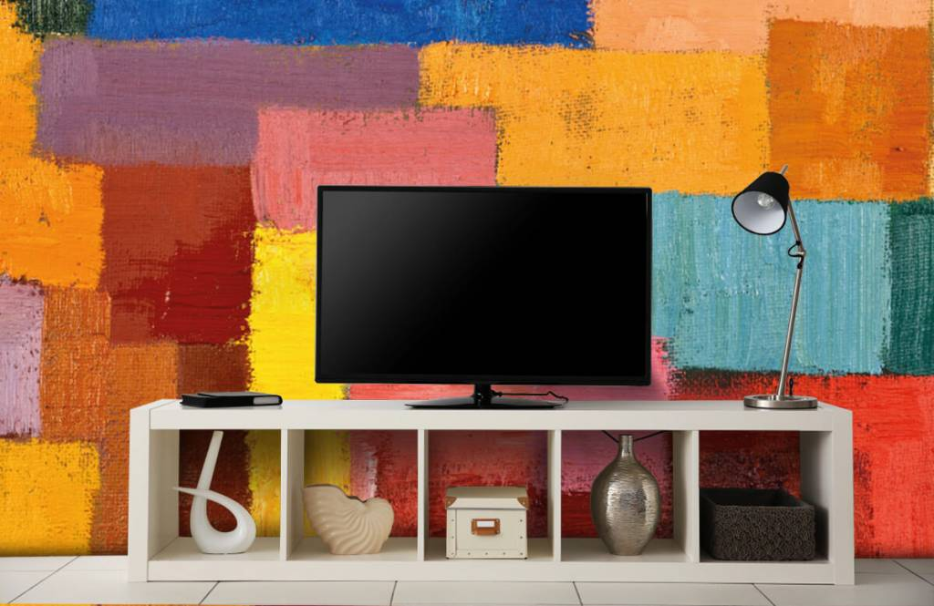 Abstract - Colorful surface distribution - Living room 5