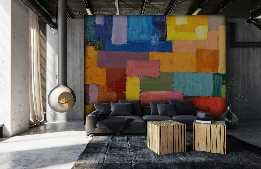 Abstract - Colorful surface distribution - Living room 6