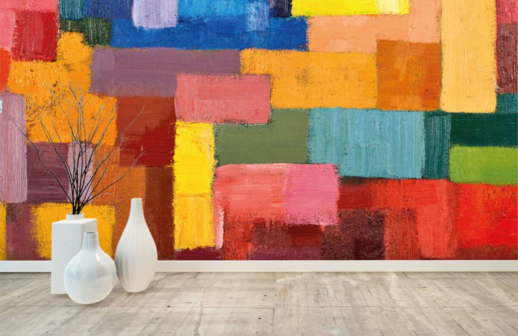 Abstract - Colorful surface distribution - Living room 8