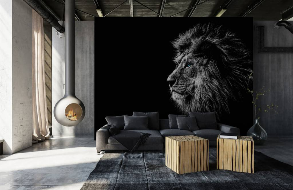 Safari Animals - Lion with blue eyes - Teenage room 1