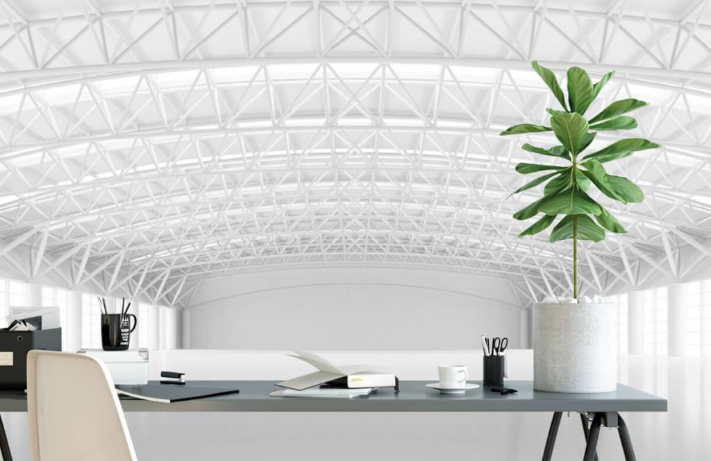 Buildings - Empty white warehouse - Management 1